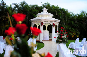 Diana and James Gazebo Ceremony Wedding Reception Ciudamar Grand Salon Ballroom at Killian Palms Country Club