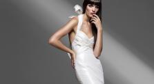 Bride in silk panties for wedding night