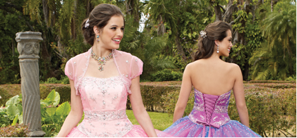 two young women prepare for their big Quince parties