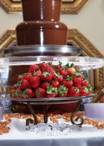 Grand Salon Reception Hall Wedding Reception Chocolate Fountain