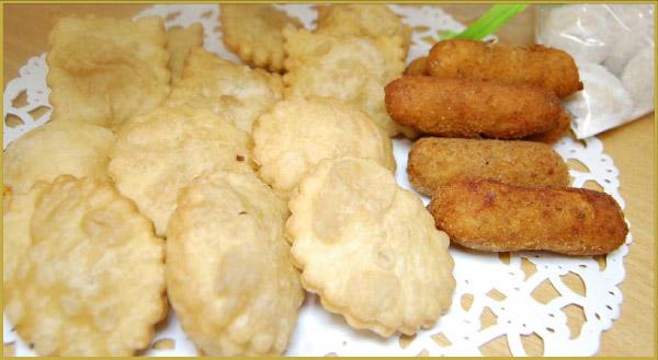 Cuban food bocaditos, pastelitos, and croquetas