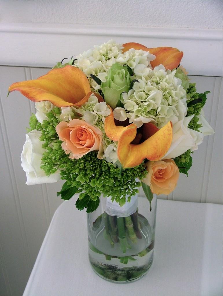 Hydrangea Wedding Bouquet - Photo by Jina Lee