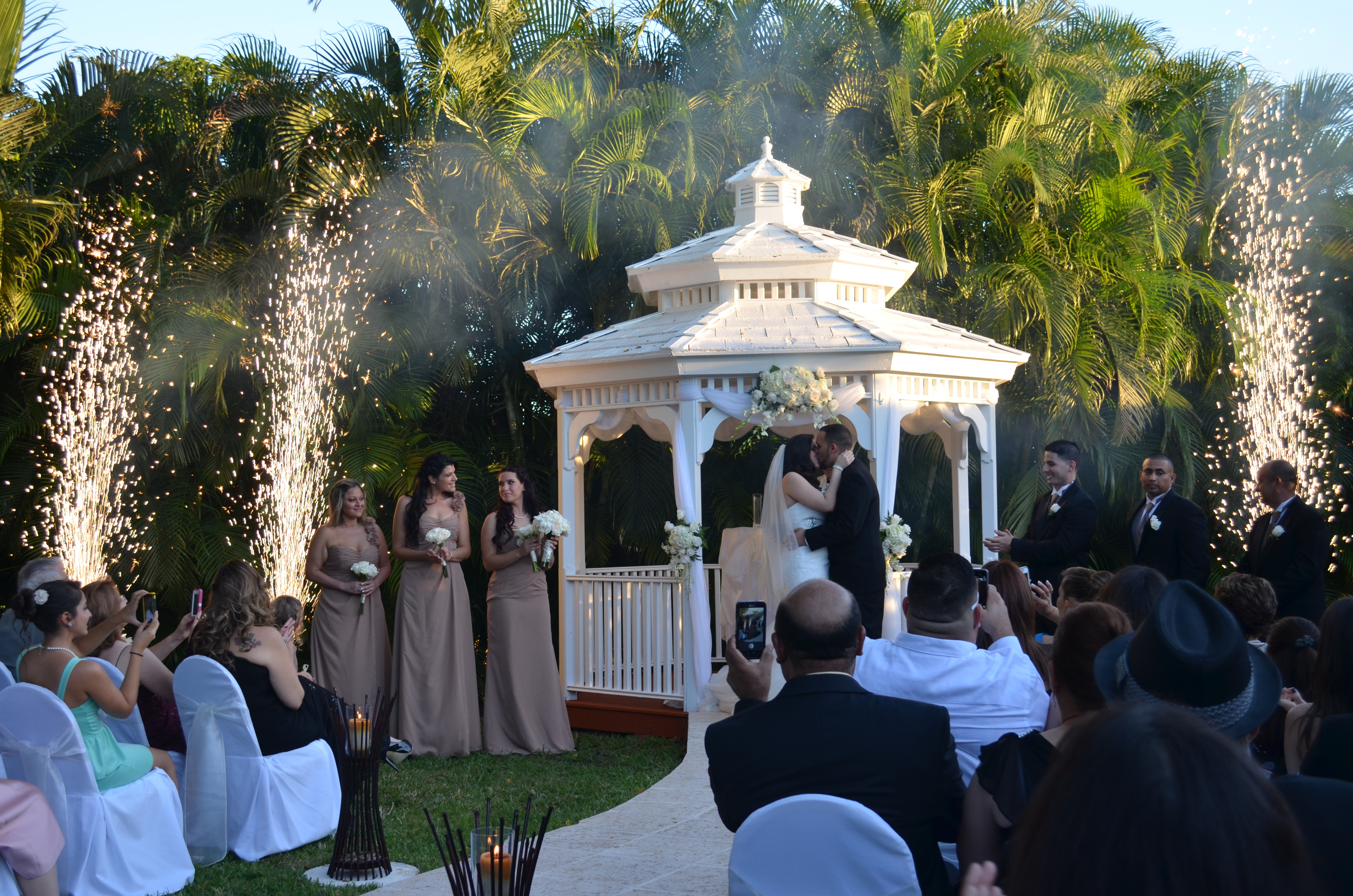 Miami Banquet Hallscatherine Amp Rolando Gazebo Ceremony