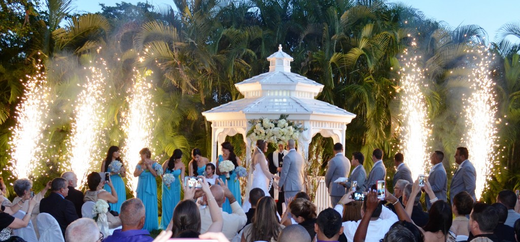 Ceremony First Reception: Yennis And Orlando Gazebo Ceremony And Wedding Reception