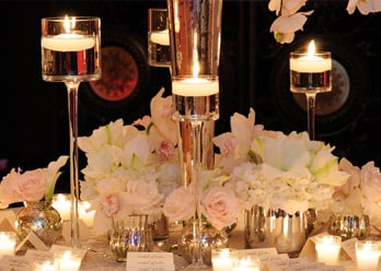 Grand salon ballrooms Miami elegant candles