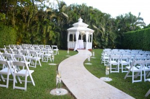 Gazebo Ceremony Wedding Reception Ciudamar at Killian Palms Country Clun Miami (14)