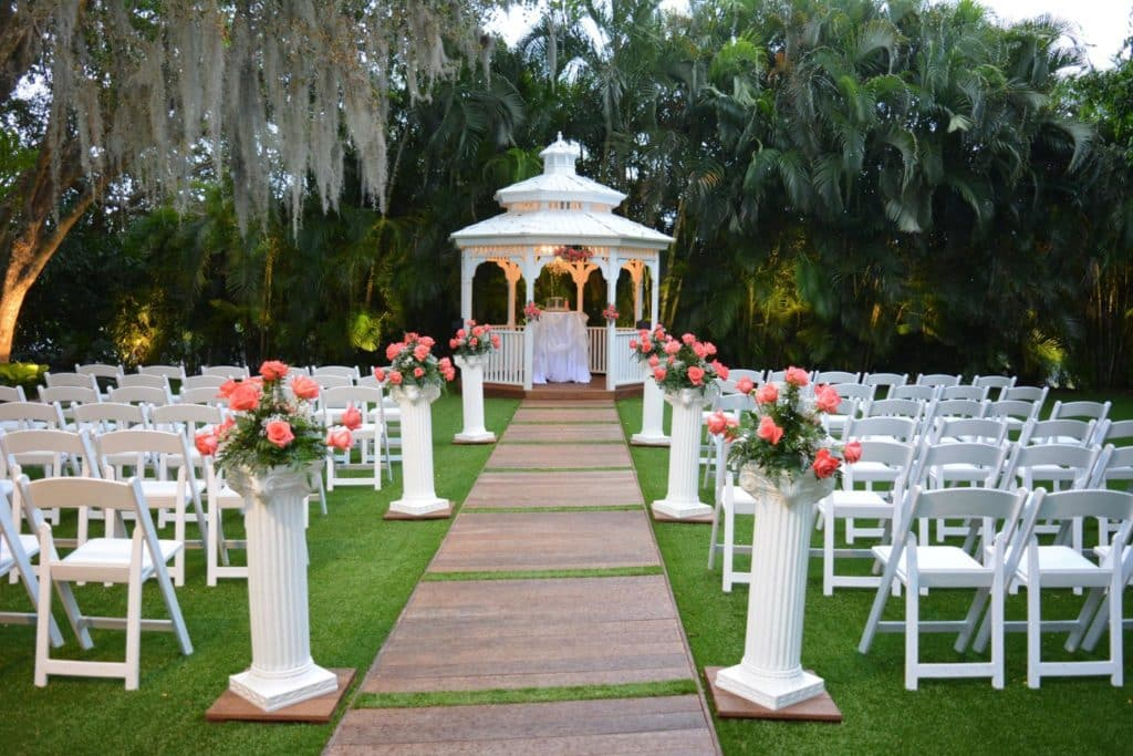outdoor wedding gazebo in miami