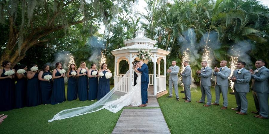 A wedding ceremony at Grand Salon Reception Hall