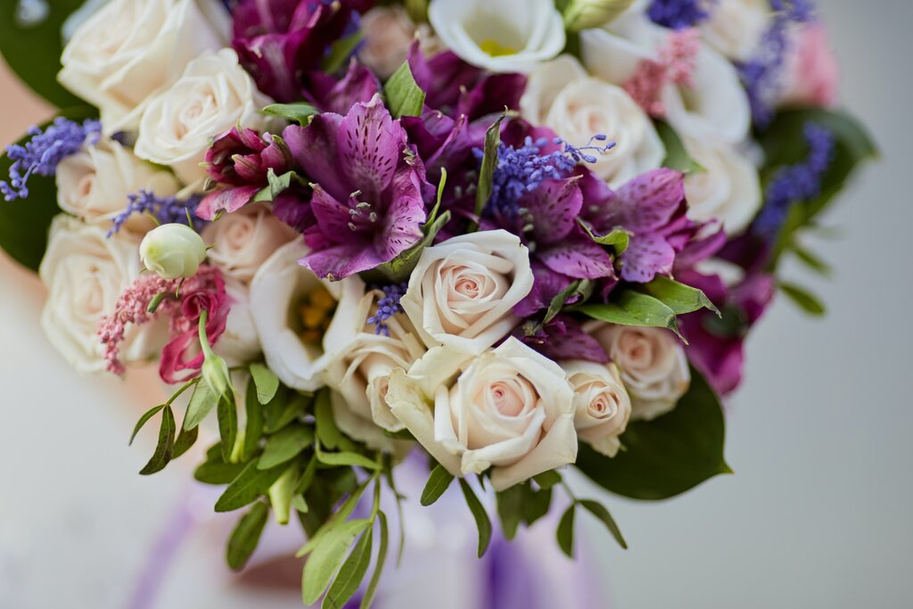 Colourful bouquet of flowers